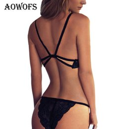 6e7f5f9df56 2018 Sexy Black Lace Bra Set Women Bras and Panties Seamless Underwear Suit  Push up Hollow Out Underwear Sets for Female S M L