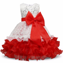 flower girls short lace dresses UK - 2017 New Year summer Princess Dress for Girls Formal Gown Ball Flower Kids Clothes Christmas Party Girl Dresses