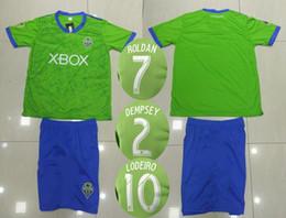 e831b430b 18 19 Seattle Sounders Soccer Jersey Shorts DEMPSEY LODEIRO TORRES ROLDAN  Football Kits Men s Athletic Thai Quality Outdoor Sports Uniforms