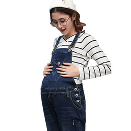 278668201ef Braced Jeans Maternity Overalls Pants For Pregnant Women Denim Jumpsuits  Pregnancy Rompers Suspender Trousers Maternity Uniforms