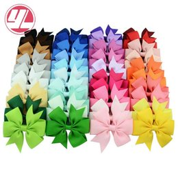 Color Alligator Hair Clips Australia - Baby Girls Bow Hiar Clips 3 Inch Grosgrain Ribbon Bows With Alligator Clips Childrens Hair Accessories Kids Boutique Bow Barrette