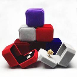 $enCountryForm.capitalKeyWord NZ - 4.5*4.5*5cm Square Velvet jewelry box Ring displays case Pendant box Jewelry Gift Boxes Packaging trinket boxes