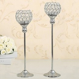 $enCountryForm.capitalKeyWord NZ - Crystal Candle Tealight Holders Stand Metal Candlesticks Wedding Party Table Centerpieces Candelabra Holiday Home Decoration Fathers Gift