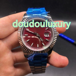 $enCountryForm.capitalKeyWord NZ - World brand men's luxury watches silver stainless steel waterproof business watches purple red big dial automatic mechanical calendar watch