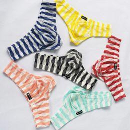 Wholesale boys thong brief resale online - Men Underwear Sexy Comfortable Breathable Underpant Nightwear Sleepwear Low Waist Briefs Shorts Underwear Men Sunny Boy Briefs Thongs