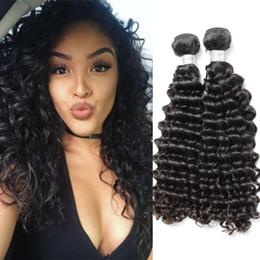 Chinese  Brand Original Hair! 2pcs Lot 9A Deep Wave Human Hair Bundles 10-24 Unprocessed Brazilian Hair Extensions julienchina bella Free Shipping manufacturers
