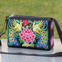 $enCountryForm.capitalKeyWord Australia - National Embroidery Women Travel handbag!Nice Multi Floral embroidered Lady Shoulder&Crossbody bag Bohemian Three-layers Carrier