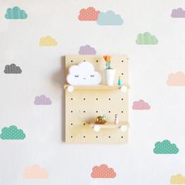 $enCountryForm.capitalKeyWord NZ - New DIY Colorful Clouds Wall Sticker Nursery Kids Room Kindergarten Decoration Girls Birthday Summer Party Home Wall Decal Decor