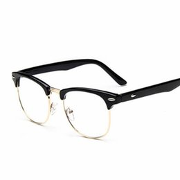 6b1940c0e5 Vintage Clear Lens Eye Glasses Frames Men Women Transparent Fake Gasses Round  Optical Eyeglasses Nerd Eyewear Spectacle