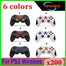 wireless joystick controller Canada - Wireless Game Pad Controller For PS3 Gamepad Dual Vibration Bluetooth Joystick For Playstation Motion Sensing Controler 200pcs YX-PS-9