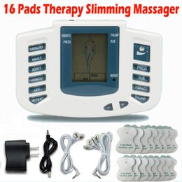 Muscle Pad Machine Australia - Electrical Stimulator Full Body Relax Muscle Therapy Massager Massage Pulse tens Acupuncture Health Care Machine 16 Pads