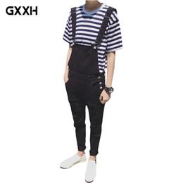 8ab9e01f2b64c Male Suspenders 2018 New Brand Casual black and white Denim Overalls Ripped  Jeans Pockets Men s Bib Jeans Boyfriend Jumpsuits