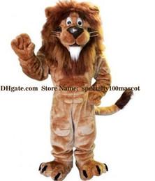 Make lion costuMe online shopping - lion mascot suit Factory sales of high quality plush lion mascot