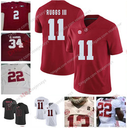 1fb3e7517 NCAA Alabama Crimson Tide  6 Devonta Smith 11 Henry Ruggs III 17 Cam Sims 1  Robert Foster Red White 2018 Championship Football Jerseys