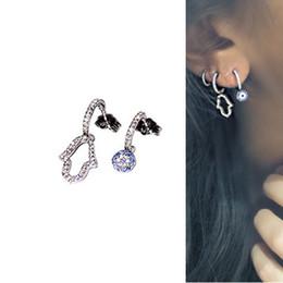 Hamsa earrings online shopping - fashion jewelry turkish evil eye hamsa hand stud earring pave Sparking cz high quality delicate girl women multi piercing jewelry earrings