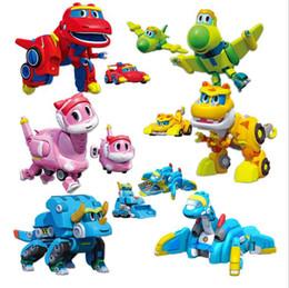car actions 2019 - Min Gogo Dino ABS Deformation Car Airplane Action Figures REX PING VIKI TOMO Transformation Dinosaur Toy Novelty Items C
