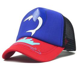 $enCountryForm.capitalKeyWord UK - GEREIT New Cute Cartoon Dolphin Pattern Summer Mesh Adjustable Baseball Caps Kids Hat For Girls Boys Sun UV Protection Baby Hats