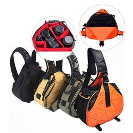 Sling camera bagS dSlr online shopping - DSLR Camera Sling Bag Digital Photo bag shoulder waterproof backpack padded insert case bag with Rain Cover for Canon Sony