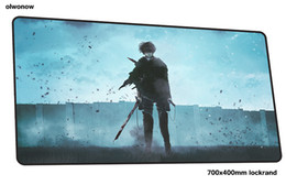 $enCountryForm.capitalKeyWord NZ - attack on titan mouse pad 70x40cm hot sales mousepads best gaming mousepad gamer High-end personalized mouse pads keyboard pad