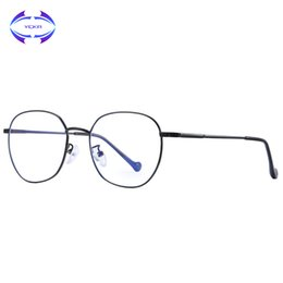 458111dc9b VCKA Mujeres Anti Azul Gafas ligeras Aleación de lectura Anteojos  resistentes a la radiación Juegos de computadora Hombres Gafas Montura de  gafas UV400