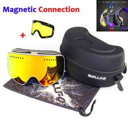 $enCountryForm.capitalKeyWord Canada - Ski Goggles with Magnetic Double Layers Lens Skiing Anti-fog UV400 Snowboard Goggles Ski Glasses Eyewear for men women with case