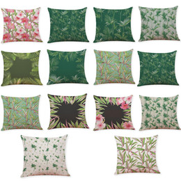 $enCountryForm.capitalKeyWord UK - Novelty Tropical Plants Linen Cushion Cover Home Office Sofa Square Pillow Case Decorative Cushion Covers Pillowcases Without Insert(18*18)