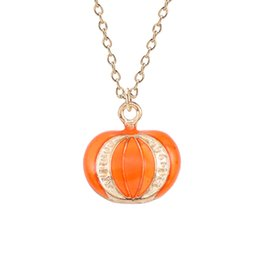 $enCountryForm.capitalKeyWord Canada - Unisex Women Men Necklace Hanging Punk Style Pumpkin Pattern Creative Alloy Pendant Necklace Jewelry Decor