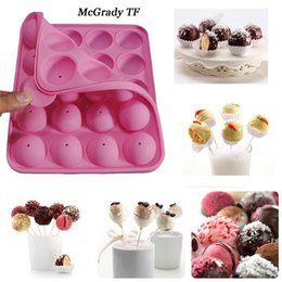 Cupcake Pop Mold Australia - Mac 20 Hole Silicone Tray Pop Cake Stick Mould Lollipop Party Cupcake Baking Mold Ice Cream Sphere Maker Chocolate Mold Silicon
