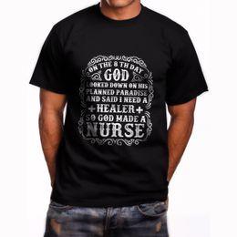 Nurses t shirts online shopping - New God Made a Nurse Short Sleeve Men s Black T Shirt Size S XL