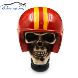 Skull Lever Australia - Gzhengtong Carved Skull Universal Fit Car Auto Gear Stick Shift Lever Knob RED Color Car Accessories Car Stying