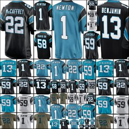 3eccf848a Men 13 Kelvin Benjamin 22 Christian McCaffrey 1 Cam Newton 59 Luke Kuechly  58 Thomas Davis Jersey Cheap sales Carolina Panther Jerseys
