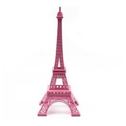 $enCountryForm.capitalKeyWord UK - Saideke Home pink Paris Eiffel Tower Statue Antique Figurine Photo Props ornaments
