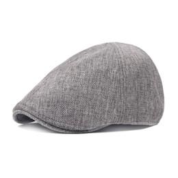 b8bbe5dd644 Unisex Cotton Linen Newsboy Caps Hats Mens Womens Ivy Cap Spring Summer  Retro Berets Women s Forward Hats Adjustable