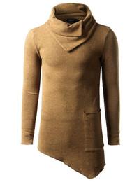 54ecba0ab Envmenst Top Fashion Brand Turtle Neck Street T Shirt Men Hip Hop Long  Sleeves Asymmetry Designed Men 'S Tees Us Size 5xl