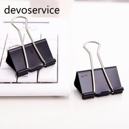 Discount metal binder clips - Metal Binder Clips Paper Clip 32mm Office Learning Supplies Office Stationery Binding Supplies Files Documents clips