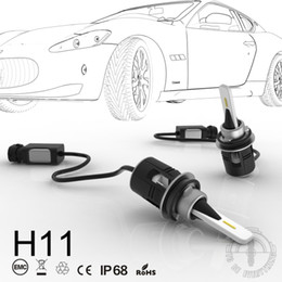 install light bulb NZ - 1 Set H8 H9 H11 Bullet B6 LED Headlight 42W 5200LM Mini Small Size CSP Y11 Chips All-in-one Pure White 6000K Front Lamps Bulbs Easy Install