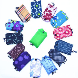 $enCountryForm.capitalKeyWord Australia - Folding Bag Polyester Foldable Shopping Bags Reusable Eco-Friendly Bag Shopping Handbag Tote vegetable fruit Storage Bags JLE152