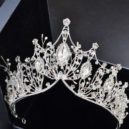 $enCountryForm.capitalKeyWord Australia - Luxury Bridal Crown High Quality Sparkle Beaded Crystals Royal Wedding Headpieces Tiaras For Women Metal Rhinestone