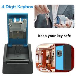 $enCountryForm.capitalKeyWord NZ - Key Storage Box Wall Hanging Keybox Alumium Alloy Blue 4-digit Combination Code Lock Storing Keys Securely Rust Free