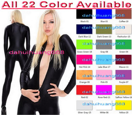 sexy pink cosplay NZ - Sexy Front Zip Bodysuit Costumes New 23 Color Lycra Spandex Suit Catsuit Costumes Unisex Sexy Body Suit Cosplay Costumes No Head Hand DH045