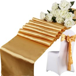 FC4908 Satin Table Runner 30cm*275cm Table Centerpieces Wedding Decoration Supply Party Decor Decoration Cloths Tablecloth Holiday Christmas from wholesale bulbs for sale manufacturers