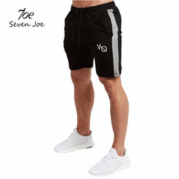 China Wholesale-Seven Joe Mens summer new fitness shorts Fashion leisure gyms Crossfit Bodybuilding Workout Joggers male short pants Brand supplier seven short suppliers
