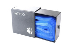 100 pezzi di plastica blu tatuaggio clip maniche maniche coperture copre fornitura nuovo caldo professionale accessorio tatuaggio accessori di tatuaggi tatuaggio in Offerta