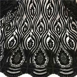 $enCountryForm.capitalKeyWord NZ - Blakc Velvet Laser embroidery Fabric Cloth Gorgeous Silk Fabric for Velvet Dress Clothes Soft Home Textile v180814