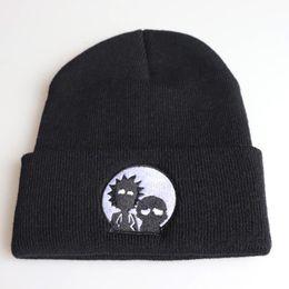 $enCountryForm.capitalKeyWord Australia - Rick morty autumn MEOW Cap Men Women Casual Hip Hop Hats Knitted Skullies Beanies Hat Warm Winter Hat For Women Beanie