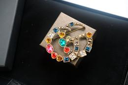 $enCountryForm.capitalKeyWord Australia - jiangyu New Top Quality Celebrity design Luxury Letter Large diamond Brooch decorations Fashion Letter Set 2pc brooch Jewelry With Box