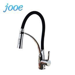 Hot Kitchen NZ - jooe kitchen faucet Copper Hot&Cold water tap Deck Mounted kitchen Waterfall faucet Basin Mixer torneira monocomando banheiro