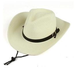 Sombrero de vaquero occidental de los hombres sombrero de la playa de las  mareas de las mujeres bloqueador solar sombrero de ala grande pequeña  pajita de ... 5920cfecc9d