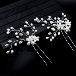 Flower Hair Clip Vintage Australia - Handmade Gold Flower Crystal Pearl Wedding Hair Comb Clip With Vine Vintage Bridal Rhinestone Hair Jewelry Accessory