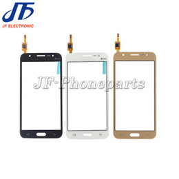 touch screen logo NZ - 10pcs lot High Quality Touch Screen Glass Digitizer Panel Replacment Parts with LOGO for Samsung Galaxy J5 J500F J500